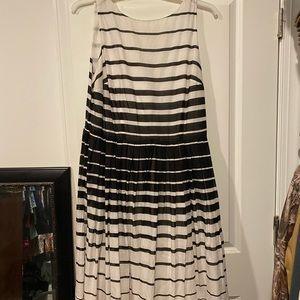 Talbots 14W striped dress